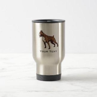 Boxer; Metal look 15 Oz Stainless Steel Travel Mug