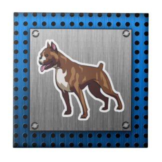 Boxer; Metal look Small Square Tile