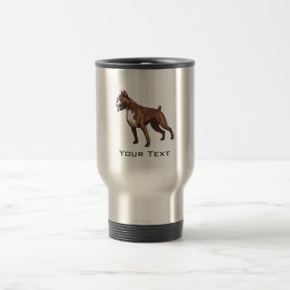 Boxer; Metal look Travel Mug
