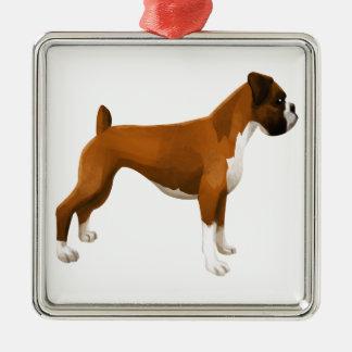 Boxer Metal Ornament