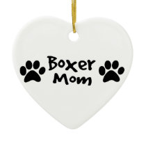 boxer mom ceramic ornament