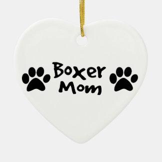 boxer mom ceramic ornament