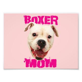 Boxer Mom dog Photo Print