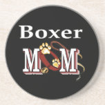 Boxer Mom Drink Coasters
