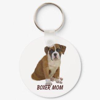 Boxer Mom Keychain keychain