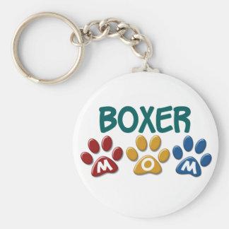 BOXER MOM Paw Print 1 Keychain