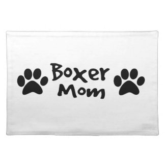 boxer mom placemat
