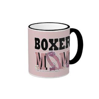 Boxer MOM Ringer Coffee Mug