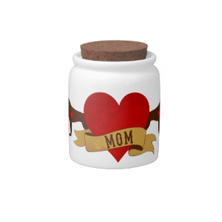 Boxer Mom [Tattoo style] Candy Jar