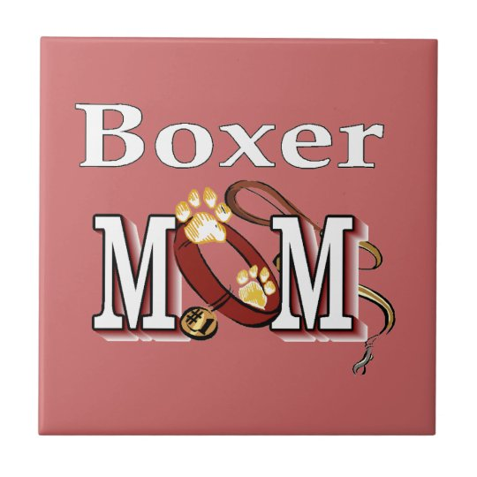 Boxer Mom Tile
