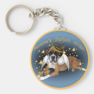 Boxer Momma's Angel apparel and gifts Keychain