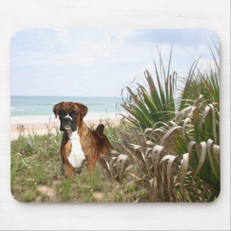 Boxer Mousepad In The Beachgrass
