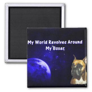 Boxer:  My World Magnet