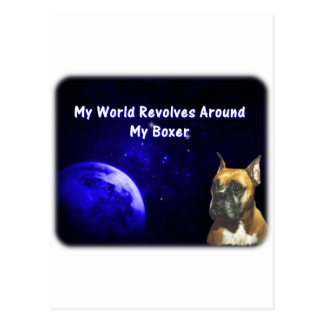 Boxer:  My World Postcard