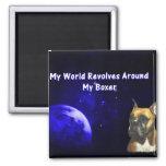 Boxer:  My World Refrigerator Magnets