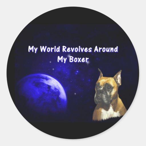 Boxer:  My World Sticker