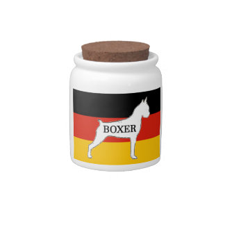 boxer name silo on flag white candy dishes