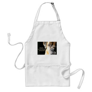 Boxer:  Not Just Another Pretty Face Adult Apron
