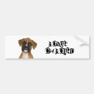 Boxer on Board Bumper Sticker