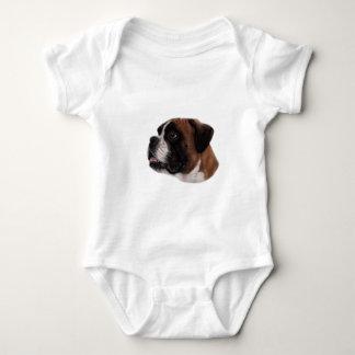 Boxer Pastel Painting Baby Bodysuit
