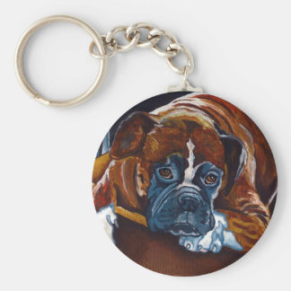 "Boxer ""Patience"" Keychain"