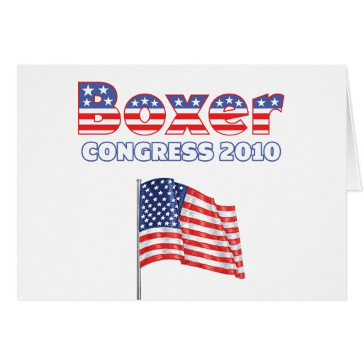 Boxer Patriotic American Flag 2010 Elections Greeting Card