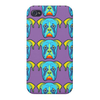 Boxer Pattern Pop Art Case For iPhone 4