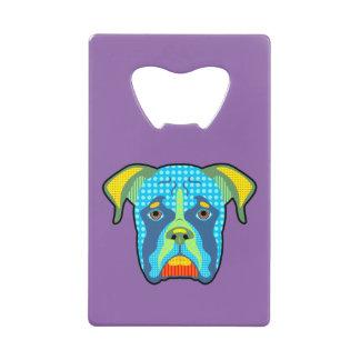 Boxer Pattern Pop Art Credit Card Bottle Opener