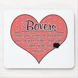 Boxer Paw Prints Dog Humor Mouse Pad