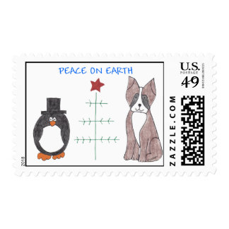 Boxer Peace On Earth Postage