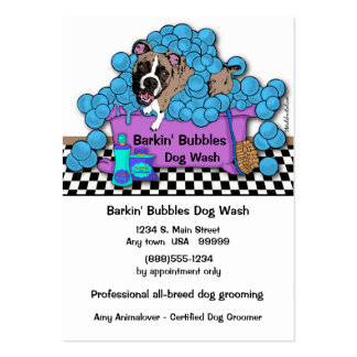 Boxer Pet Grooming Business And Appointment Card