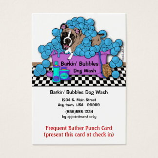 Boxer Pet Grooming Frequent Bather Punch Card