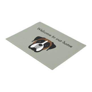 Boxer Pet Home Welcome Mats