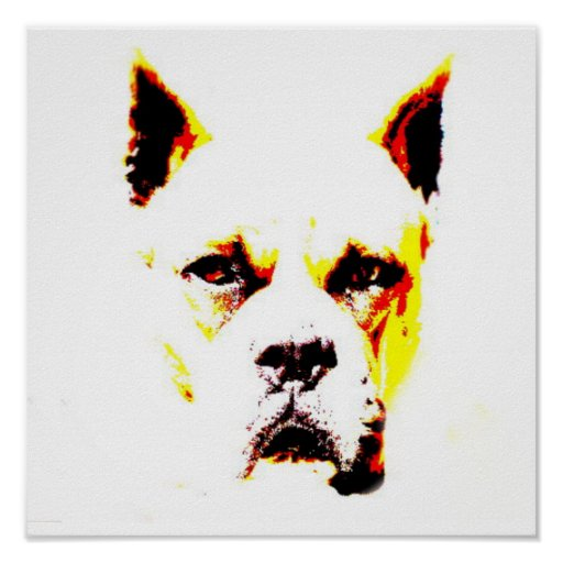 Boxer portrait framed print