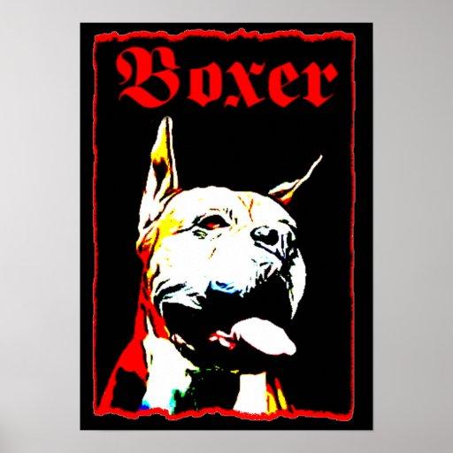Boxer Poster Kunstdrucke jugendlich