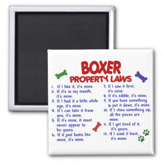 Boxer Property Laws 2 2 Inch Square Magnet