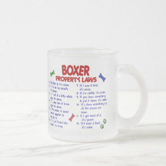 Boxer Property Laws 2 Frosted Glass Coffee Mug
