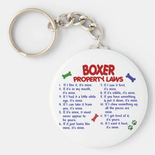 Boxer Property Laws 2 Keychain