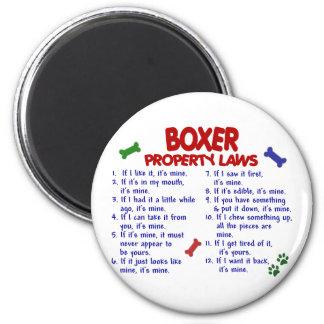 Boxer Property Laws 2 Fridge Magnets