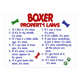 Boxer Property Laws 2 Postcard