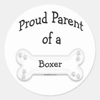 Boxer Proud Parent Sticker