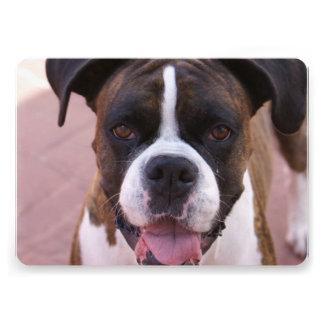 Boxer Pup Personalized Invitation