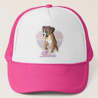 Boxer pup love hat
