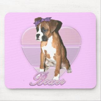 Boxer pup love mousepad