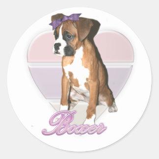 Boxer pup love sticker