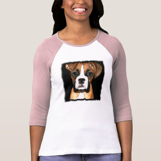 Boxer pup womens shirt