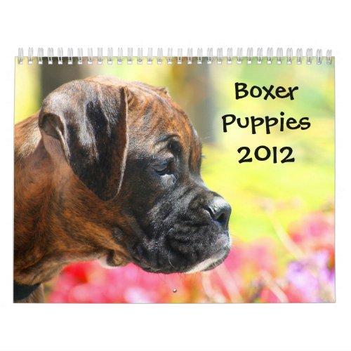 Boxer Puppies 2012 Calendar calendar