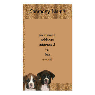 Boxer puppies business card