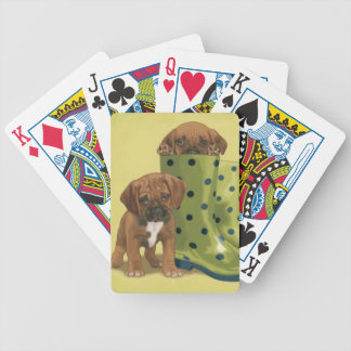 Boxer Puppies Dog Playing Cards