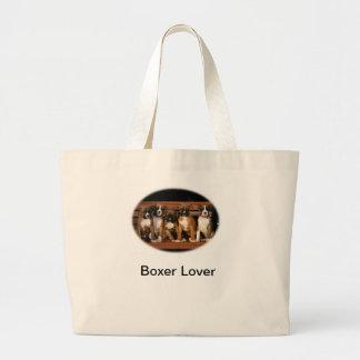 Boxer Puppies Large Tote Bag